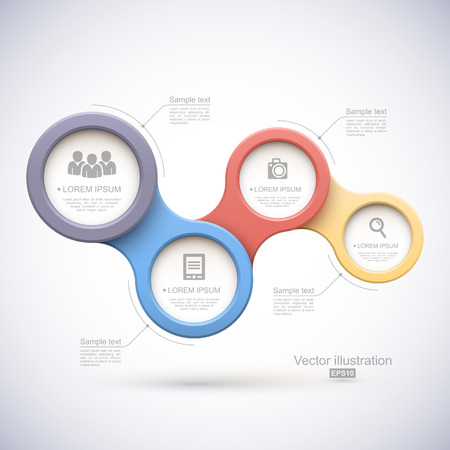 diagram: Colorful modern business circles Illustration
