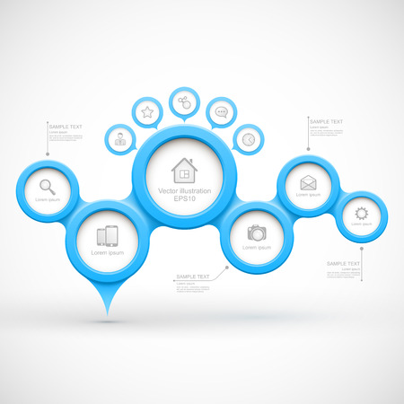 Blue modern business circles Vector