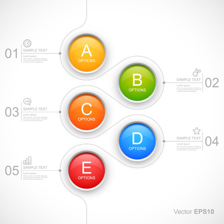 Modern colorful circles options