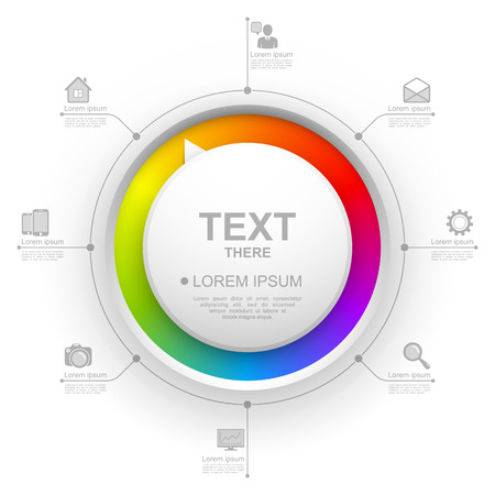 Colorful circle website template