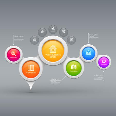 Colorful modern business circles  イラスト・ベクター素材