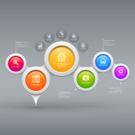 Colorful modern business circles Vectores