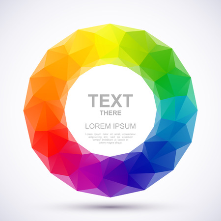 Low-poly color wheel