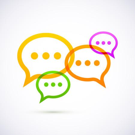 word bubble: Colorful speech bubbles