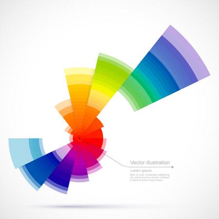circulos concentricos: Objeto coloreado extracto