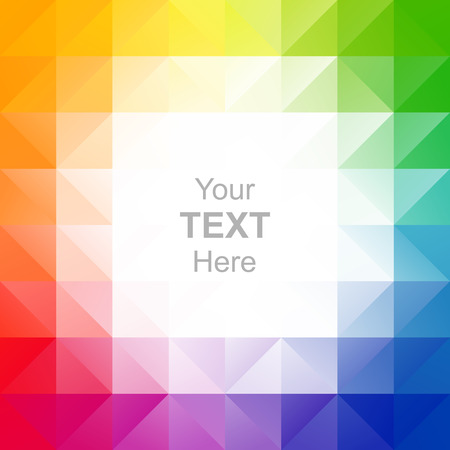 Colorful triangles background Illustration