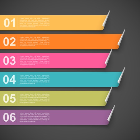 Colorful bookmarks with options. Easy to change colors