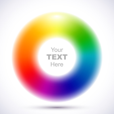 Abstract blurry color wheel Imagens - 37017053