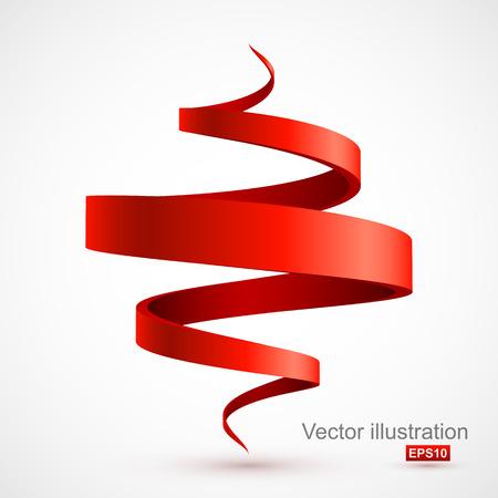 赤 3 D スパイラル