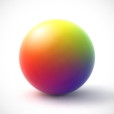 rainbow sphere: Colorful sphere on white background Illustration