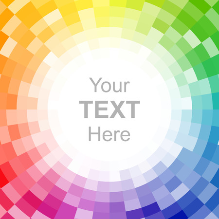 Abstract pixelated color wheel background