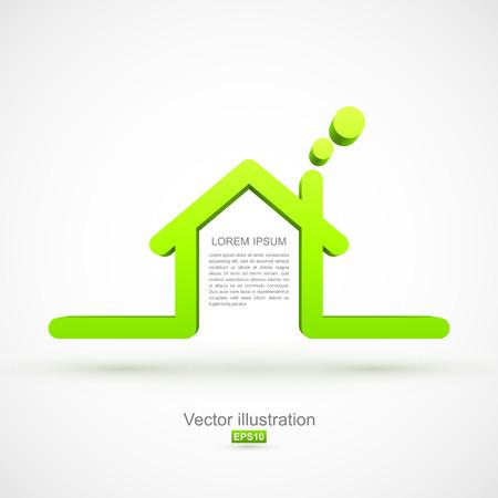eco notice: Green house symbol