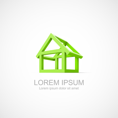 sold small: Abstract construction of house. Easy to change color Illustration