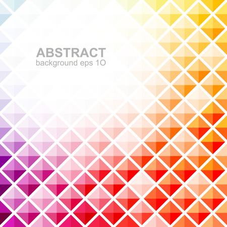 Abstract colorful square pattern background Vettoriali