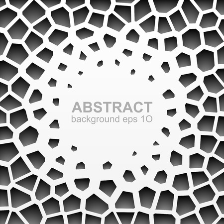 grayscale: Abstract grayscale geometric circle pattern Illustration