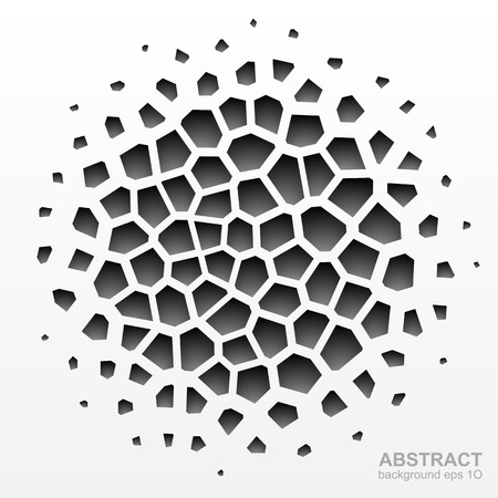 Abstract grayscale geometric circle pattern 向量圖像