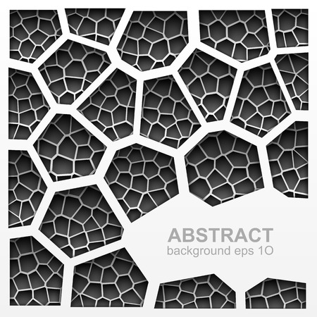 Abstract grayscale geometric background