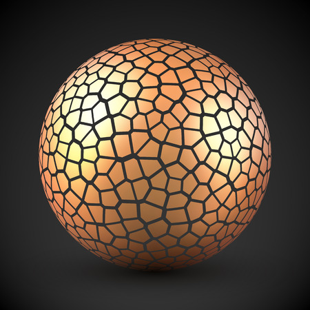 metal ball: Abstract cracked sphere
