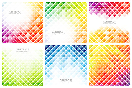 Set of abstract colorful backgrounds