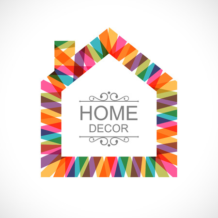 modern house exterior: Creative house decoration icon
