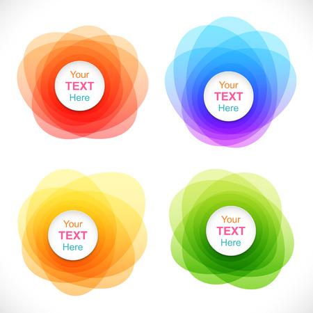 kurve: Set mit bunten runden abstrakten Banner