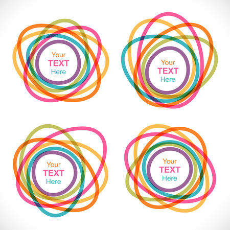 Set of colorful round abstract banners