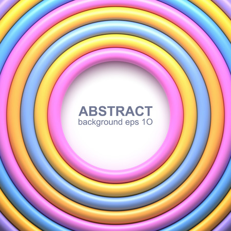 Abstract background with colorful glossy rings