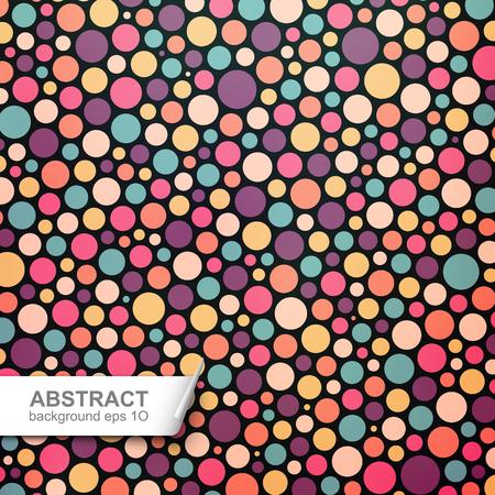Colorful fond abstrait pointillés Vecteurs