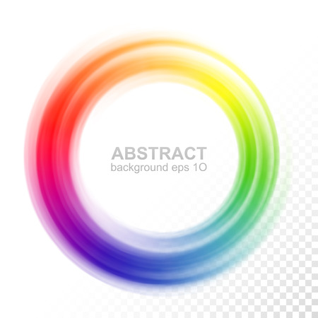 Abstract blurry color wheel