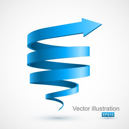 Blue spiral arrow 3D