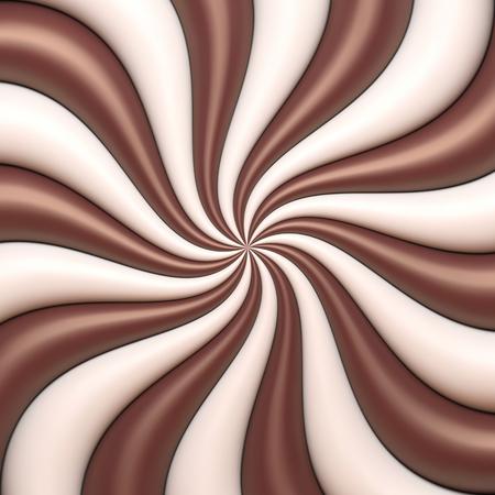 チョコレートとクリームの抽象的な背景