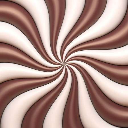 wavy background: Abstract chocolate and cream background Illustration