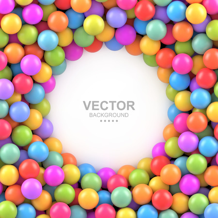 Colorful balls background with place for your content Vettoriali