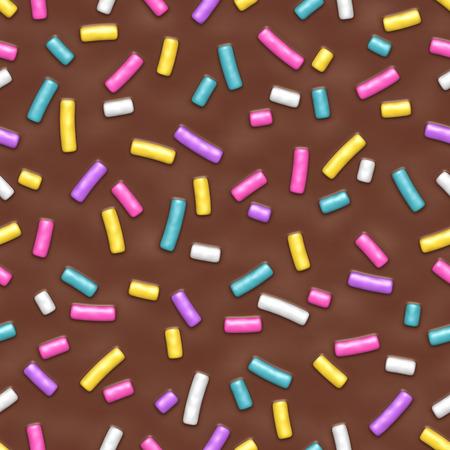 Seamless pattern with many decorative sprinkles Illustration