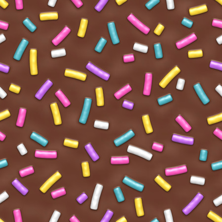 Seamless pattern with many decorative sprinkles
