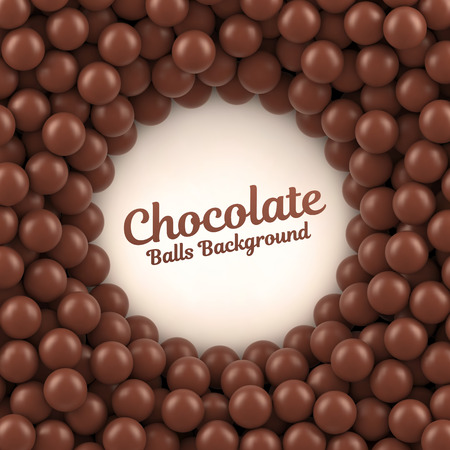 Chocolate balls background with place for your content