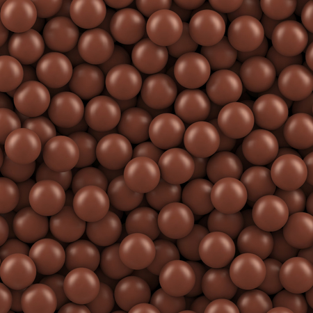 Chocolate balls background