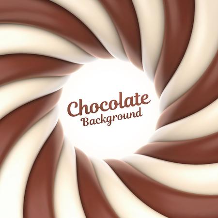 Fond de tourbillon de chocolat avec place pour votre contenu