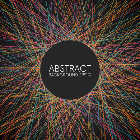 Abstract colorful random thin lines background with place for your content