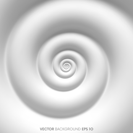 Fibonacci spiral white abstract background. Vector illustration Иллюстрация