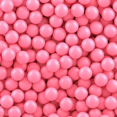 Pink candy balls background. Vector illustration