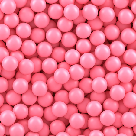 Pink candy balls background. Vector illustration