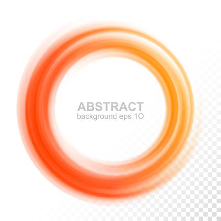 Abstract transparent orange swirl circle 矢量图像
