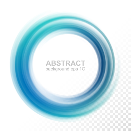 Abstract transparent blue swirl circle. Vector illustration Eps 10 Stock Illustratie
