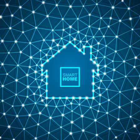 Smart house abstract background. Smart home automation concept