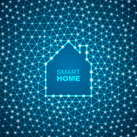 Smart house abstract background