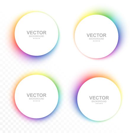 Set of colorful blurry circle banners. Vector illustration Ilustração