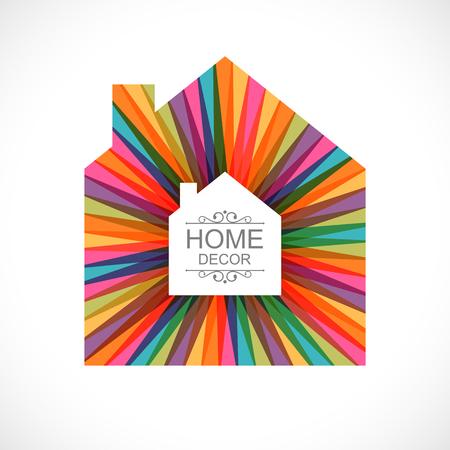 Creative house decoration icon. Vector illustration EPS 10 Ilustração