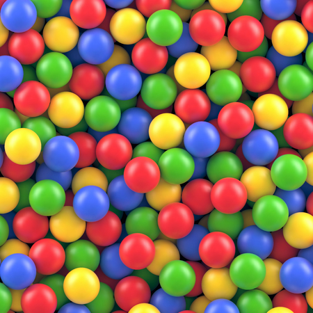 Dry children's pool with colorful plastic balls vector background