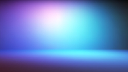 Colorful neon gradient studio backdrop with empty space for your content. Vector illustration